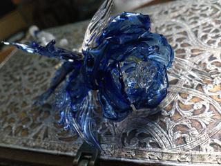 薔薇と蝶のガラスペン