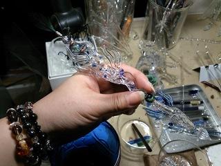 ガラス細工の羽根ペン
