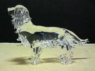 ガラス細工の犬(キャバリア)