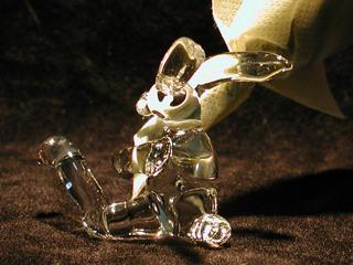 ガラス細工の花束うさぎ
