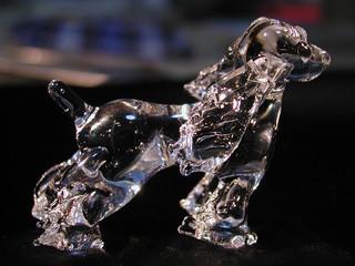 ガラス細工の犬(コッカスパニエル)