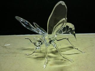 ガラス細工見本 スズメバチ