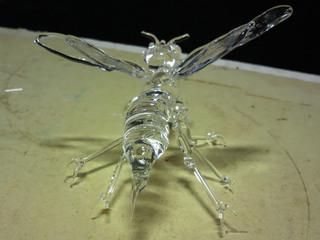 生徒さんのガラス細工作品 スズメバチ