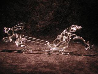 ガラス細工のサンタうさぎ