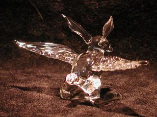 ガラス細工の鳥うさぎ