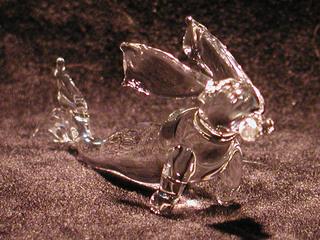 ガラス細工のうさ魚