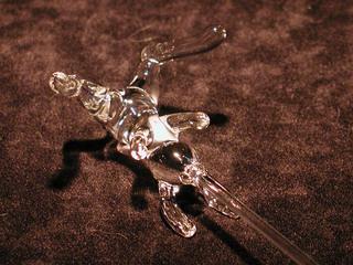 ガラス細工のうさぎ串焼き